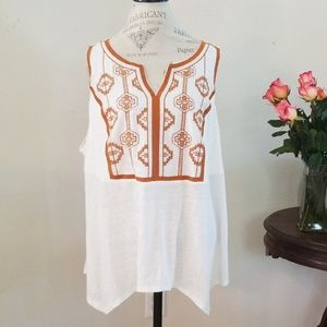 Simply Emma Embroidered Tank Top